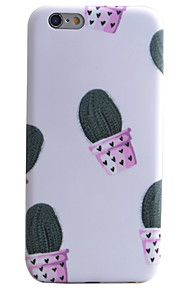 Cactus Pattern IMD Technology Phone Case TPU Material For iPhone 6s 6 Plus