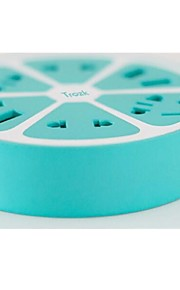 TROZK Con Cable Others Multifunctional smart socket with 4 usb Verde / Rosa / Amarillo / Naranja