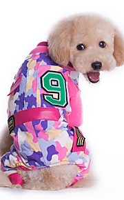 Colourful Camouflage Solider Style Costume Coat for Pets Dogs Jumpsuits Dog Clothes (Assorted Sizes and Colours)