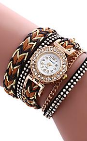 Mulheres Relógio de Moda / Bracele Relógio Quartz / PU Banda Legal / Casual Branco / Azul / Vermelho / Marrom / Verde / Rose marca