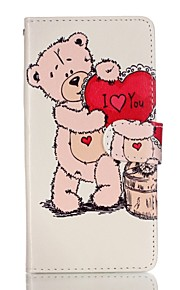 Full Body Card Holder / Wallet / Flip / Pattern Cartoon PU Leather Hard Case Cover For Lenovo Lenovo A6000