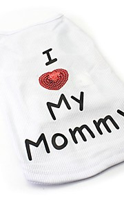 Lovely I Love My Mommy Printing  Cotton Vest for Pets Dogs (Assorted Sizes and Colours)