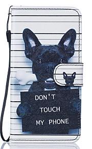 Tuta portafoglio / A portafoglio / con supporto / Capovolgere / Goffrato / A fantasia Dog Similpelle Difficile Copertura di caso per