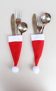 12 st Julprydnader jullock kniv gaffel påsar 6 * 13cm