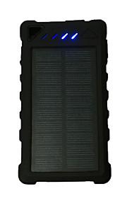 12000mAhבנק כוח סוללה חיצונית מטען סולרי / Multi-Output / פנס 12000 Output 1:5V 1000mA Output 2:5V 1000mA מטען סולרי / Multi-Output / פנס