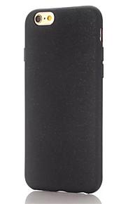 Für iPhone 7 Hülle / iPhone 7 Plus Hülle / iPhone 6 Hülle Mattiert Hülle Rückseitenabdeckung Hülle Einheitliche Farbe Weich TPU Apple