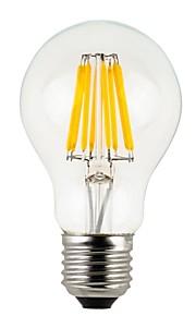 8W E26/E27 LED-globepærer A60(A19) 8 COB 780 lm Varm hvit Dimbar / Vanntett V 1 stk.
