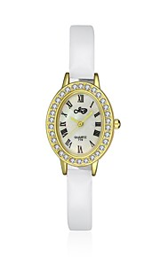 Mulheres Relógio Elegante / Relógio de Moda Quartz Impermeável Couro Banda Pendente / Casual Preta / Vermelho marca