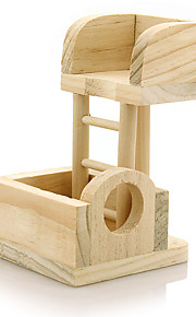 Wooden Lookout Tower Platform Station Toy for Pet Rat Hamster Mouse