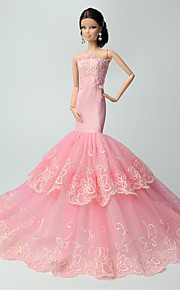 Party/Evening Dresses For Barbie Doll Pink Lace Dresses