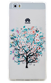 Para Transparente / Diseños Funda Cubierta Trasera Funda Árbol Suave TPU Huawei Huawei P9 Lite / Huawei P8 Lite