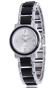 Mulheres / Unissex Relógio de Moda / Bracele Relógio Quartz / Lega Banda Boêmio / Pendente / Casual Preta / Branco marca