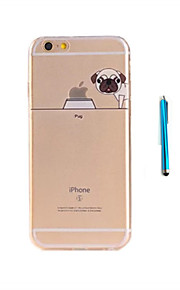 For Etui iPhone 7 / Etui iPhone 6 / Etui iPhone 5 Mønster Etui Bakdeksel Etui Hund Myk TPU AppleiPhone 7 Plus / iPhone 7 / iPhone 6s