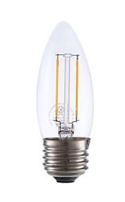 2W E26/E27 LED-glødepærer B 2 COB 200 lm Varm hvit Dimbar V 1 stk.