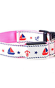 Dog Collar Adjustable/Retractable Cartoon Multicolor Nylon