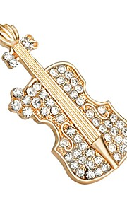 hot salg skinnende krystal violin sko broche for kvinder