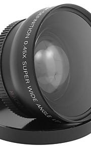52mm 0.45x vidvinkel linse makroobjektiv til kanon D5000 D5100 D3100 D7000 D3200 D80 d90 dslr kamera