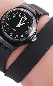Mulheres Relógio de Moda / Relógio de Pulso Quartz / Silicone Banda Legal / CasualPreta / Branco / Azul / Vermelho / Verde / Rosa / Roxa