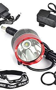 Освещение Налобные фонари / Велосипедные фары / Передняя фара для велосипеда LED 3000 Люмен 1 Режим Cree XM-L T6 18650 Очень легкие