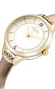 Mulheres Relógio de Moda / Relógio de Pulso Quartz / Couro Banda Legal / Casual Preta / Azul / Marrom / Rosa / Rose marca