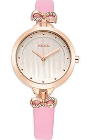Mulheres Relógio de Moda / Relógio de Pulso Quartz / Couro Banda Legal / Casual Preta / Branco / Azul / Vermelho / Rosa marca