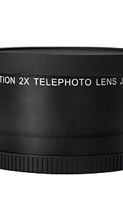 52mm 2.0x teleobjektiv til Nikon D90 D80 D700 D3000 D3100 D3200 D5000 D5100 d5200 18-55mm DSLR-kameraer