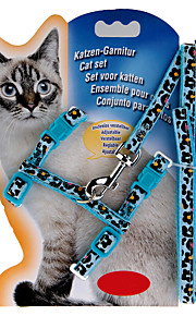 Durable Nylon Cat Kitten Collar with Lead Leash Harness Accessory Set Adjustible