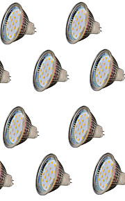 3W GU5.3 (MR16) LED-spotlampen MR16 18 SMD 2835 300 lm Warm wit Decoratief V 10 stuks