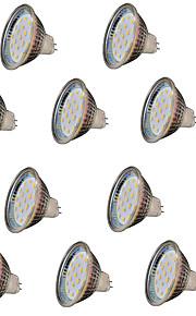 3W GU5.3(MR16) LEDスポットライト MR16 18 SMD 2835 300 lm 温白色 装飾用 V 10個