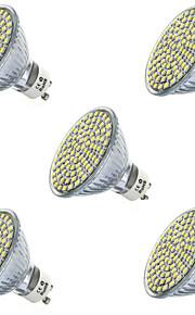 7W GU10 / GX5.3 LED-spotlampen MR16 80led SMD 2835 650lm lm Warm wit / Koel wit Decoratief V 5 stuks
