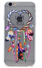 For iPhone 7 etui / iPhone 6 etui / iPhone 5 etui Transparent / Præget / Mønster Etui Bagcover Etui Drømmefanger Blødt TPU AppleiPhone 7