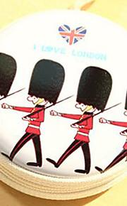 rejse metal tegneserie britiske soldater ændre hovedtelefoner opbevaringsboks (tilfældig farve)