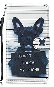 For Samsung Galaxy S5 S6 S7 S7 Edge Dog PU Leather Wallet