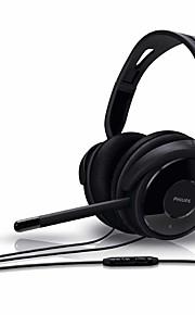 gaming hörlurar dator pannband headset Philips shm6500 med mikrofon / volymkontroll