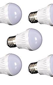 3W E26/E27 LED-globepærer SMD 2835 250 lm Varm hvit / Kjølig hvit Dekorativ AC110 / AC220 V 5 stk.