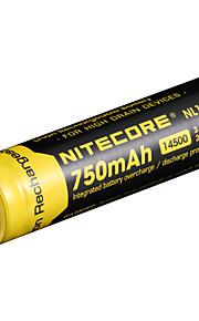 nitecore nl147 750mah 3.7의 2.8wh의 14500 리튬 이온 배터리