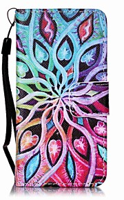 Spreading Flowers Painting PU Phone Case for apple iTouch 5 6