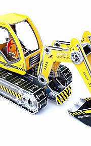 puslespil Display Model Byggesten DIY legetøj Gravemaskine 1 Papir Hvid Originalt legetøj