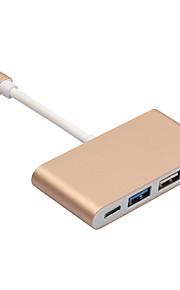 usb 3.1 type c for at USB3.0 / 2 * USB2.0 / type-c 4-port hub adapter kabel til ny macbook 12 tommer Chromebook Pixel og mere