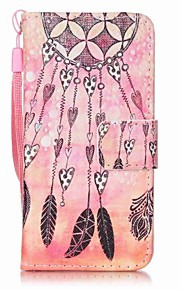 Orange Wind Chimes Painting PU Phone Case for apple iTouch 5 6