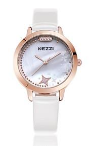 KEZZI Mulheres Relógio de Moda Quartzo Quartzo Japonês PU Banda Casual Preta Branco Azul Vermelho RosaBranco Preto Vermelho Azul Rosa
