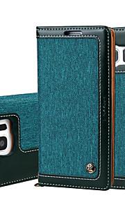 Per A portafoglio / Porta-carte di credito / Con chiusura magnetica Custodia Integrale Custodia Tinta unita Resistente Similpelle Samsung