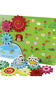 puslespil Pædagogisk legetøj / Puslespil Byggesten DIY legetøj Træ Regnbue Hobbylegetøj