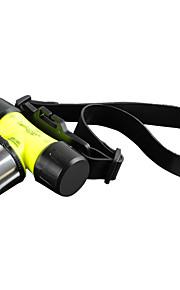 Belysning LED Lommelygter Pandelamper Lommelygter LED 1800 Lumen 3 Tilstand Cree XM-L T6 18650 AAAVanntett Genopladelig Nedslags