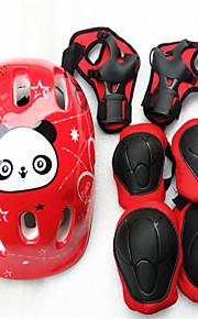 Children'S Roller Skating Helmet Skating Roller Skates Protective Suits Skateboarding Bicycle Knee Set