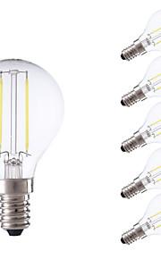 2W E14 LED-glødepærer P45 2 COB 250 lm Varm hvit / Kjølig hvit AC 220-240 V 6 stk.