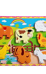 puslespil Pædagogisk legetøj / Puslespil Byggesten DIY legetøj Rabbit / Kat / Hunde / Gris 8 Træ Regnbue Hobbylegetøj