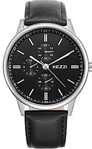 Casal Relógio de Moda Relógio de Pulso Relógio Casual Quartzo / Couro Banda Legal Casual Preta Branco Marrom Branco Preto Marron