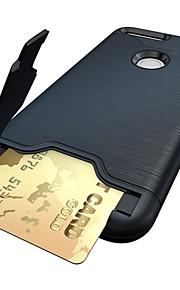 용 카드 홀더 / 스탠드 케이스 뒷면 커버 케이스 단색 하드 PC 용 Google Google Pixel / Google Pixel XL