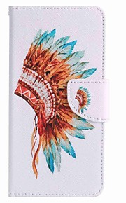 For Samsung Galaxy J7 prime J5 prime Indian Hat Painting PU Phone Case